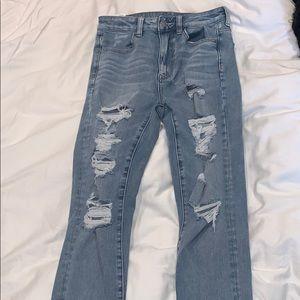 I am selling American Eagle jeans (light wash)